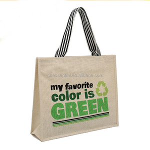 High quality picture of jute tote bag, cheap jute shopping bag
