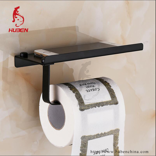 wc ersatz schwarz papierrollenhalter mit telefon regal papierhalter produkt id 60456794264. Black Bedroom Furniture Sets. Home Design Ideas