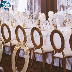 Metal frame circle back banquet chairs for hotel dining room