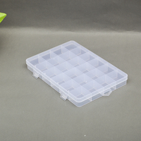 Unique Style Clear Plastic Divided Storage Box For Screws