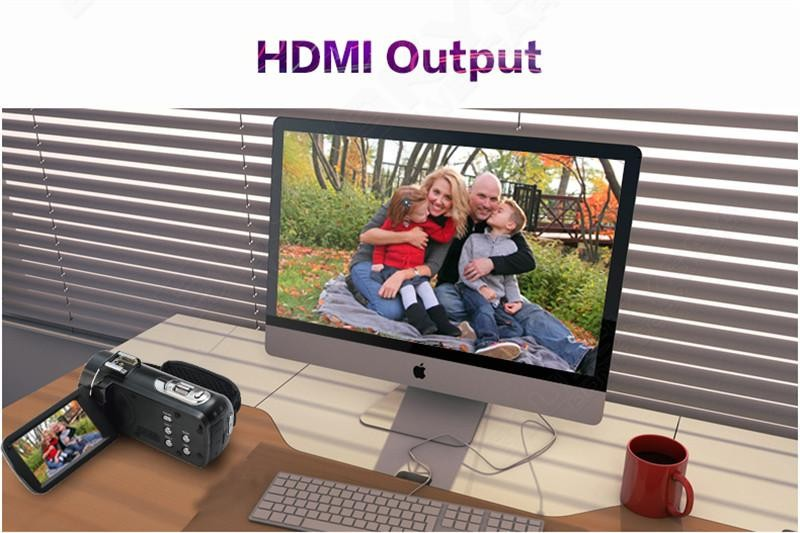 "Super 24mp FHD 1080p Professional Digital Video Camera With 3.0""Touch Display"