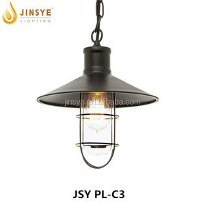 metal lighting vintage Indoor pendant light cage lamp