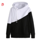 2019 Best Quality Crewneck Two Color Cotton Fleece Sweatshirt Fitted Unisex Two Tone Wholesale Hoodies