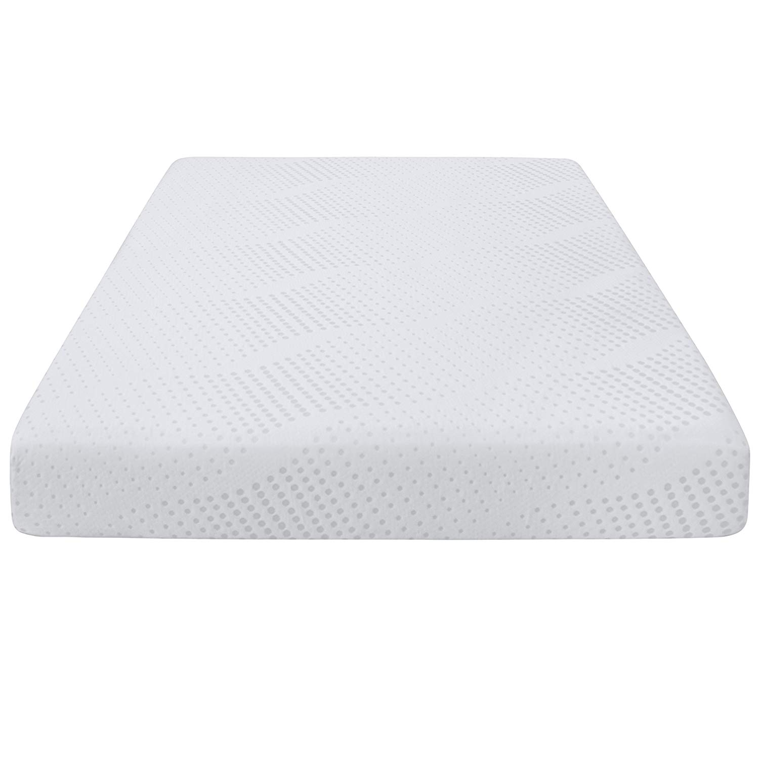 """Queen Size Dual Layered 2.5"""" Gel-Infused Memory Foam Mattress Improves Posture Supports Body's Natural Pressure Points CertiPUR-US Certified All-Over Cooling Ventilation and Open Cell Technology"""
