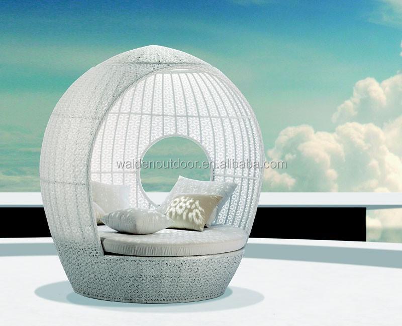 새로운 디자인 야외 등나무 소파 겸용 침대가 원형 캐노피( DH ...