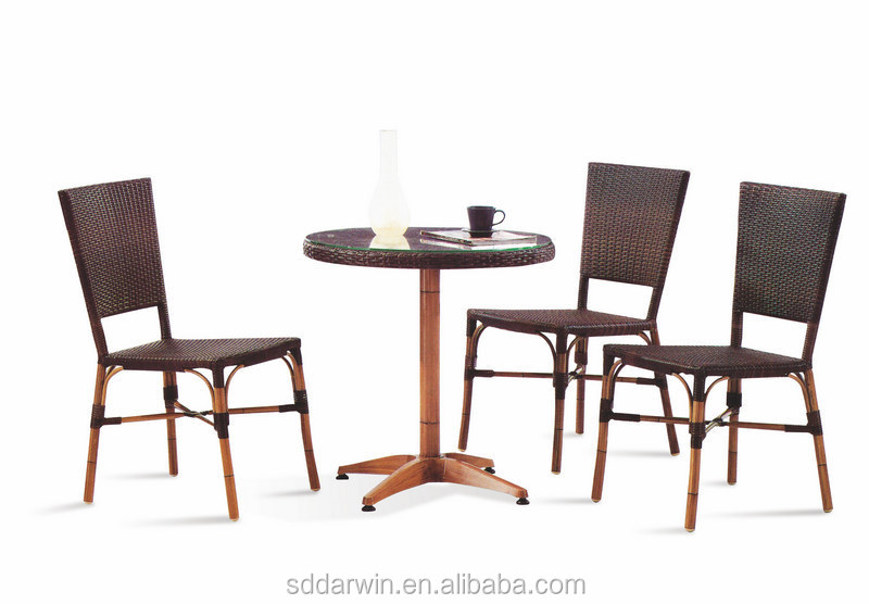 bamboo looking wooden table and 3 chiar/ DW-ZW009