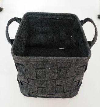 Felt Storage Basket LOONG BABY Soft Felt Storage Bin Handmade Storage Box with PU & Felt Storage BasketLoong Baby Soft Felt Storage BinHandmade ...