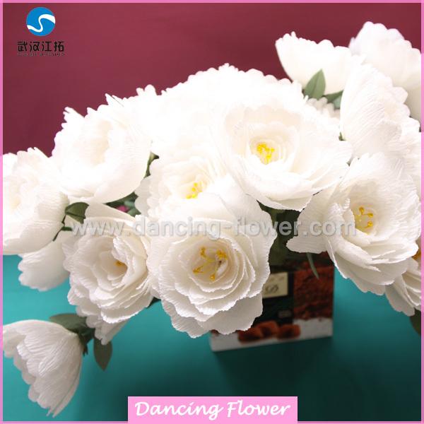 Handmade crepe paper peony with stems sfcm 03 buy flowerpaper handmade crepe paper peony with stems sfcm 03 mightylinksfo