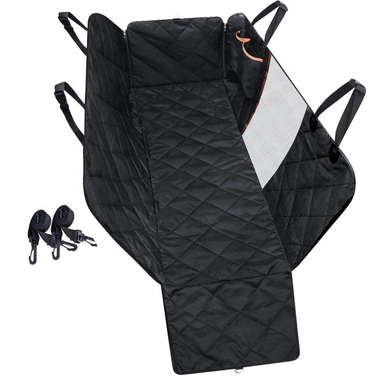 YangyangPet Black Waterproof Quilted Dog Hammock Visual Window Pet Car Bed Pet Dog Car Seat Cover For Travel