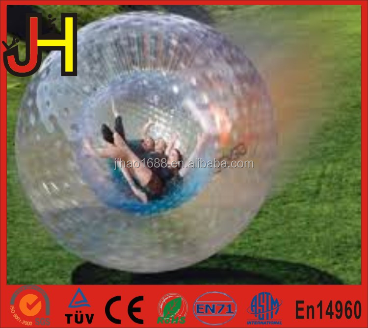Hot Sale Transparent Grass Inflatable Bowling Zorb Balls For Kids