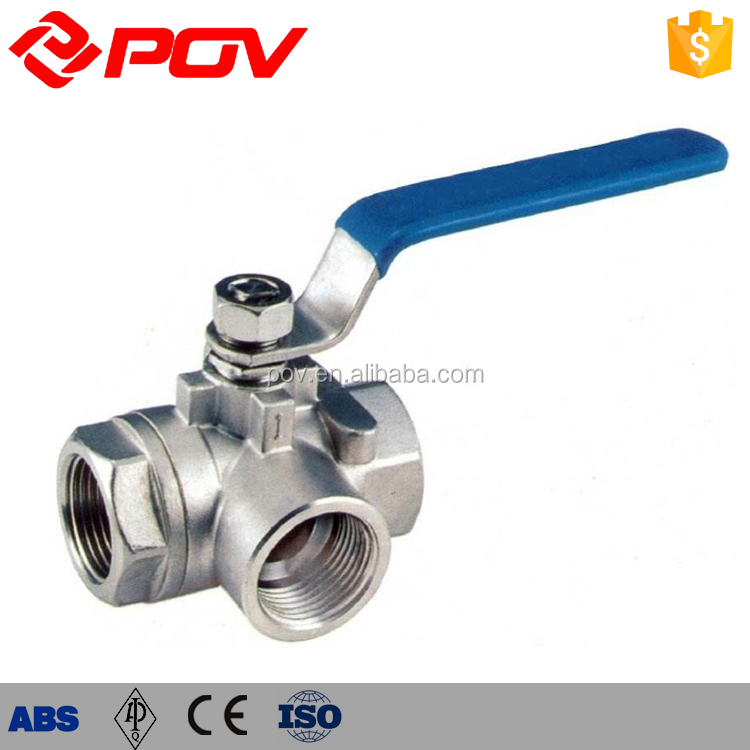 1 inch stainless steel 3 way ball valve