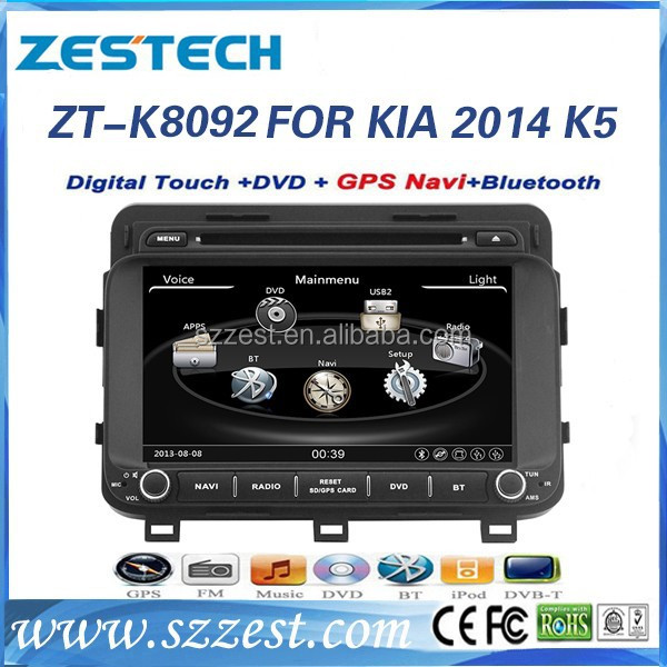 ZESTECH car multimedia navigation system 2014 car dvd for Kia K5 OPTIMA