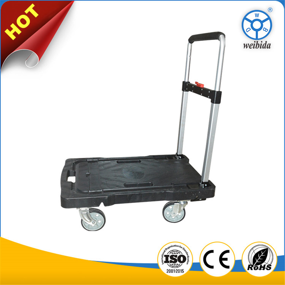 WBD heavy duty trolley 150kg push carts folding hand trolly