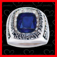 World Champions Men's Ring Blue Sapphire Stainless Steel Championship ring