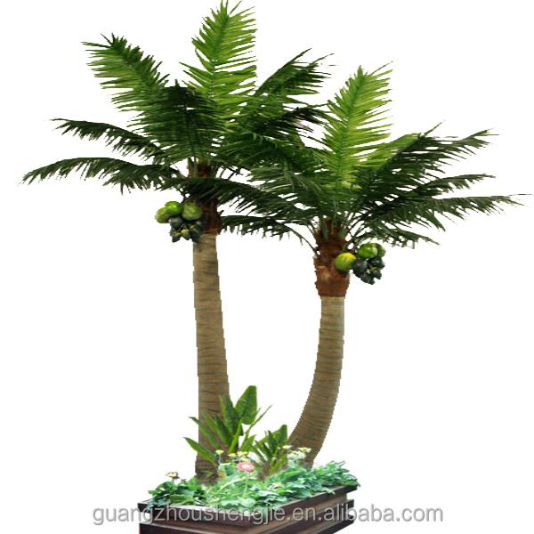 q080323 ornamental plants artificial coconut bonsai plastic palm Artificial Ornamental Plants