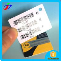 Double side printing hang tag Custom shape plastic pvc card printing