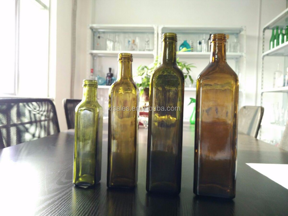 SQUARE GLASS BOTTLES 500ML OLIVE OIL 750ML 1L