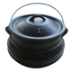 cast iron flat bottom potjie pot
