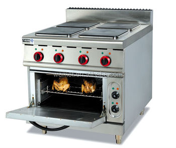 Electric Range With 4 Burner Oven Cooking