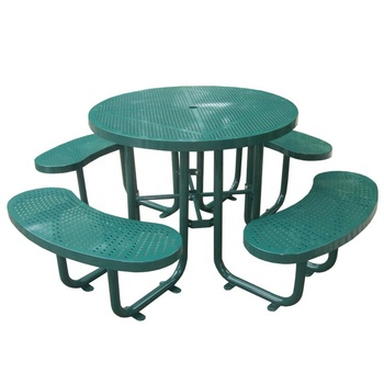 Metal Round Picnic Table Target Outdoor