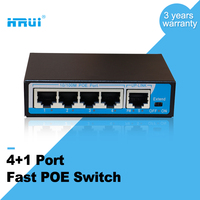 mini 4 port 100M 250m extend long range ethernet PoE Switch