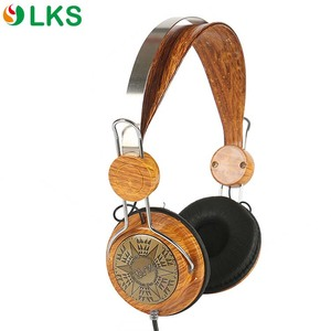 vintage wood earphone funky earphones cool headphones wooden headphone headsets