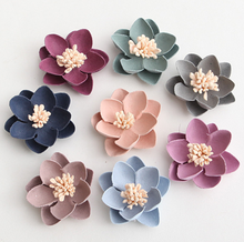 Elegant decorations artificial decor roses wholesale handmade die cut felt flower FW045