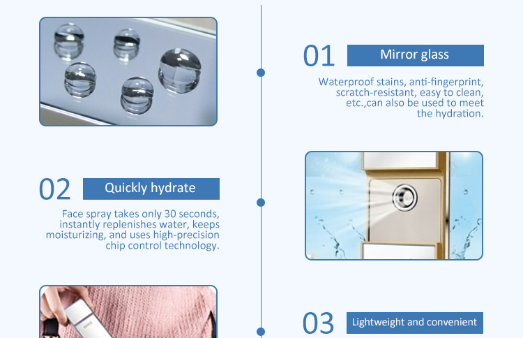 Rechargeable handheld personal skin care moisturizing facial mister