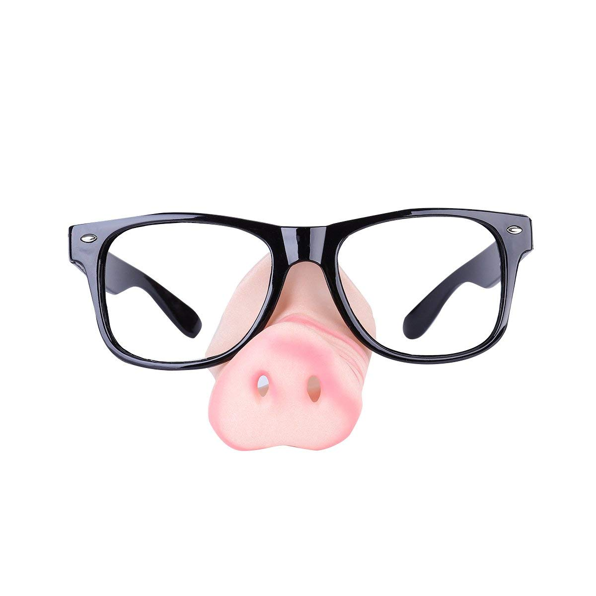 Tinksky Pig Nose Sunglasses/ Specs Glass Square Frame Fancy Dress Piggy Snout Eye-catching Party Glasses Funny Glass Costume Accessories Halloween April Fool 's Day children's party Decoration
