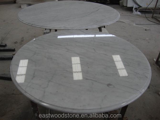 Wit marmer ronde tafel ronde marmeren blad eettafel salontafel