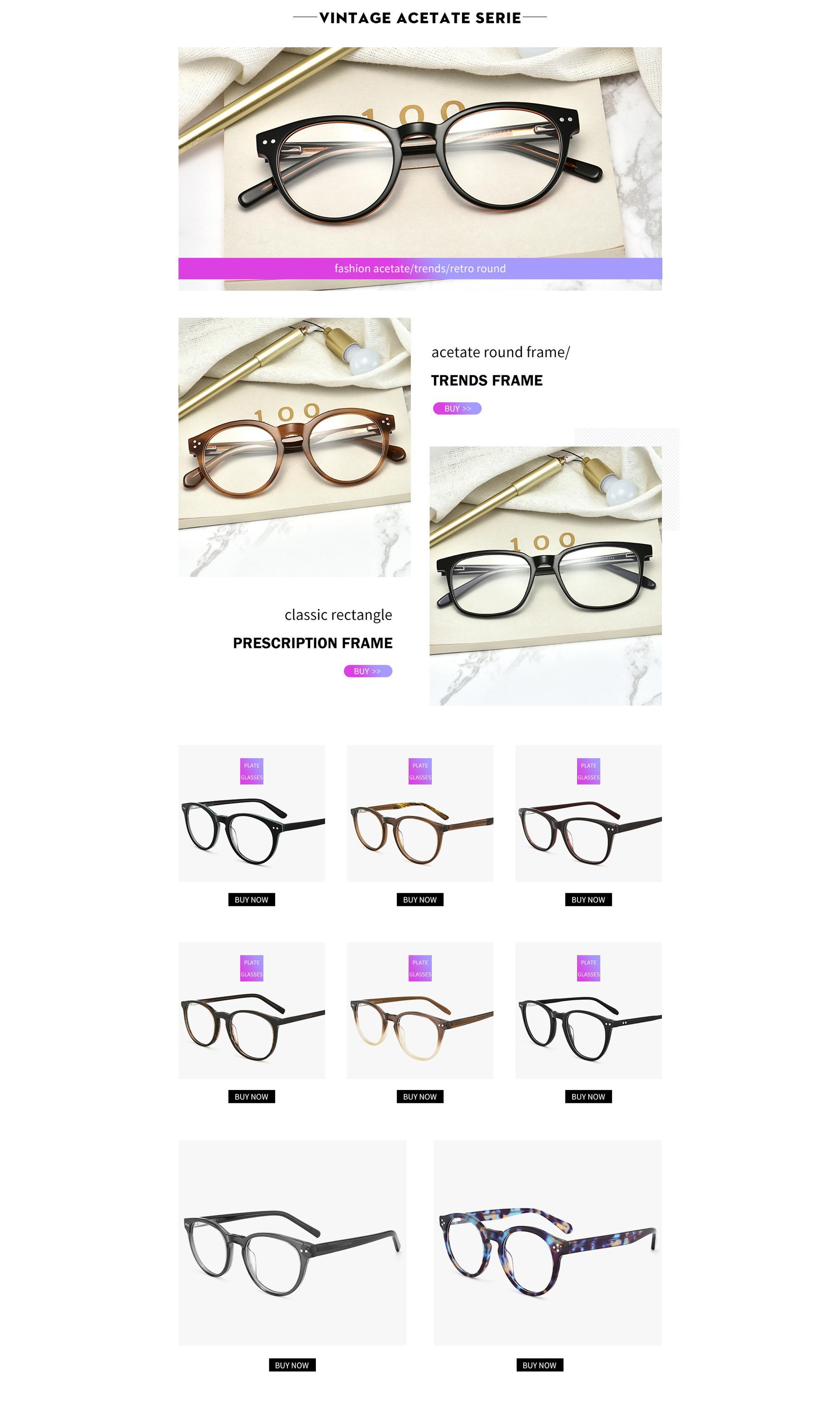 d1fde6135cf 2018 Factory wholesale famous brands optical reading acetate frames