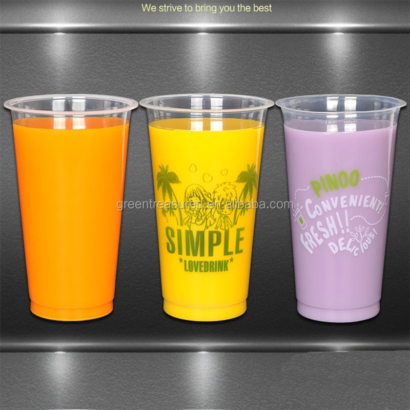 Pp Pet Transparent Clear Glass Drinking Disposable Juice -7259