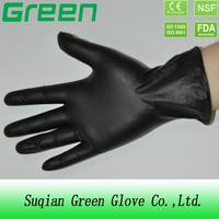 single onyl use disposable protective Beauty black vinyl gloves