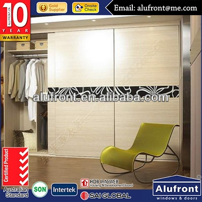 new style design wardrobe sliding door for interior use manufacturer in China