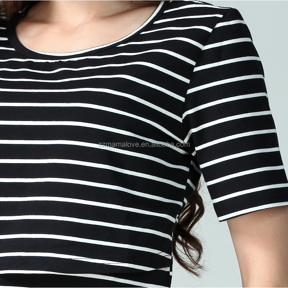 Summer Short Sleeve Soft Cotton Breastfeeding Clothes Nursing tops Pregnant shirts for Women
