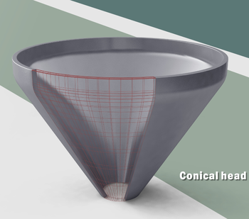 Conical head Prevessel Vessel Shallow 2:1 Ellipsoidal Head/dish Head