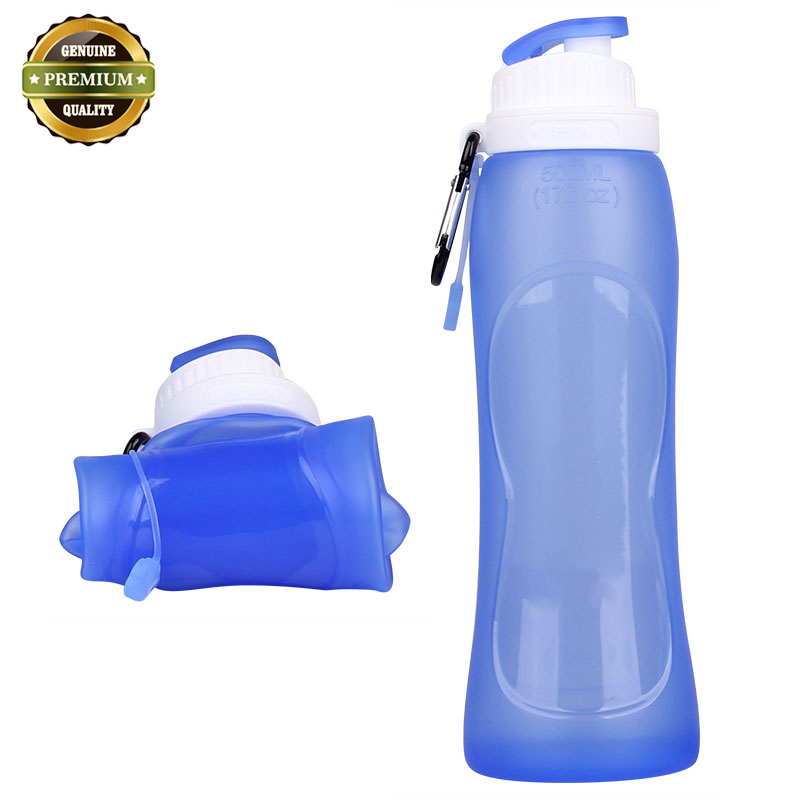 Collapsible Silicone Water Bottle Free <strong>Samples</strong>,The Bottle Of Water Bottle 500Ml