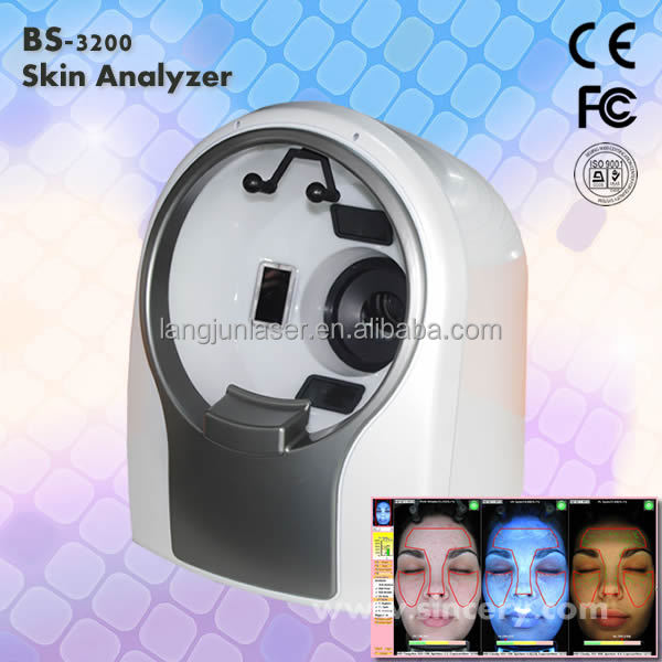 Newest model professional 3d facial skin analyzer/skin analysis machine