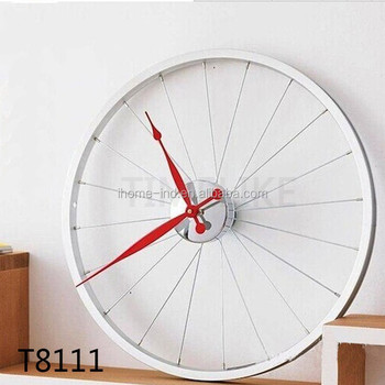 24 Inch Wall Clocks Wheel Design Large Wall Clock For Home Decor
