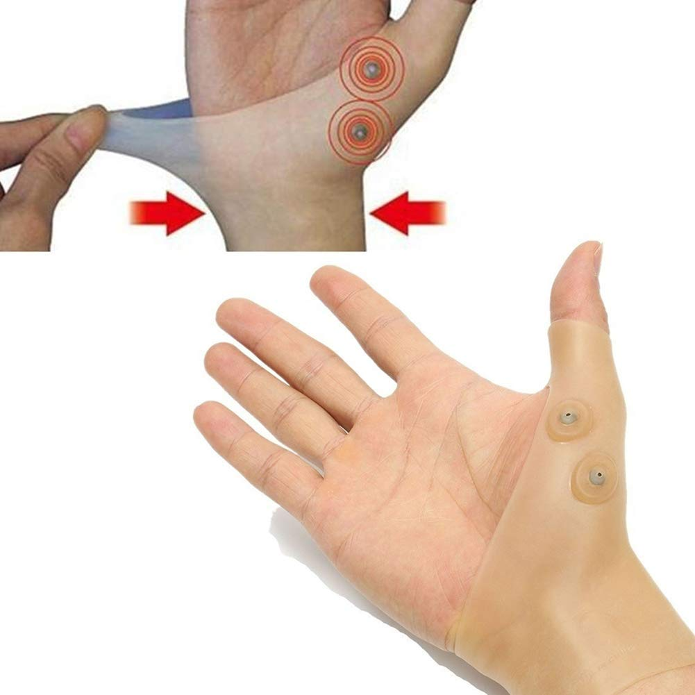 ZCON Tenosynovitis Sprain Magnetic Therapy Wrist Hand Support Silicone Sleeve Glove