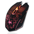 Hot sale cheap programable dpi adjustable optical game esd mouse with led rgb light glowing for oem custom brand