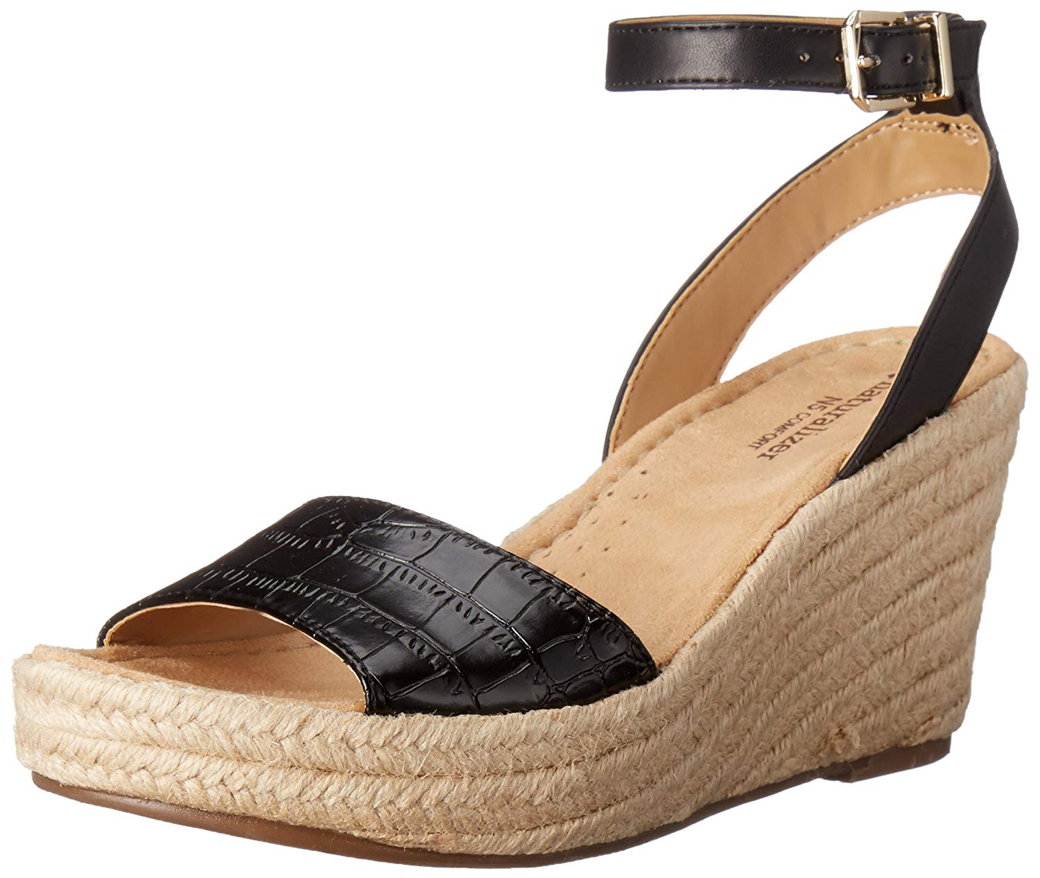 ed1a9770871 Get Quotations · Naturalizer Women s Note Espadrille Wedge Sandal