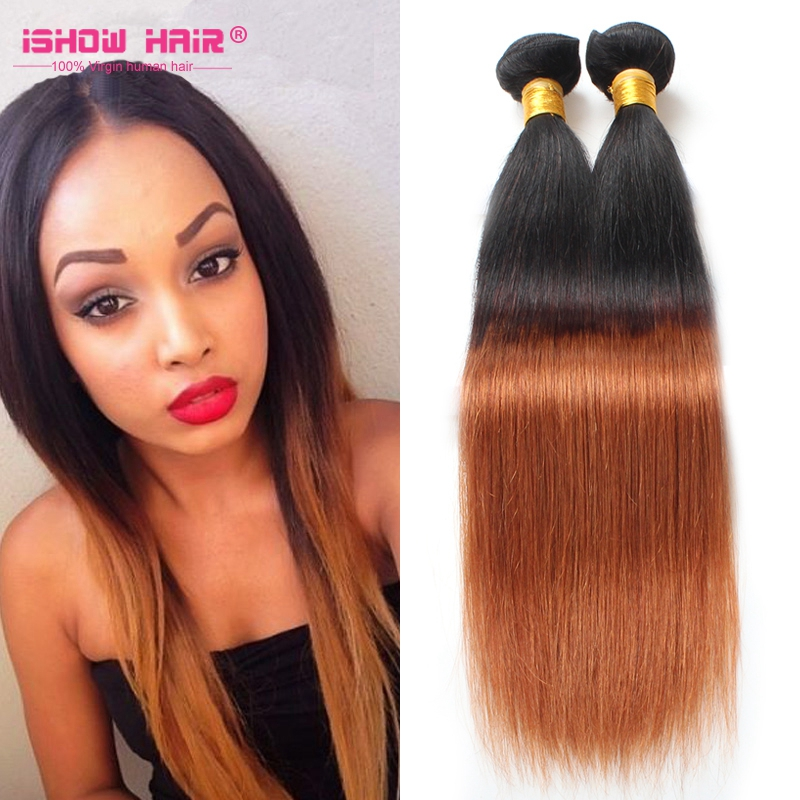 Wholesale Colored Two Tone 1b30 Hair Weaves 100 Human Hair Ombre