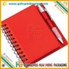 Promotion PVC cover notebook with pen