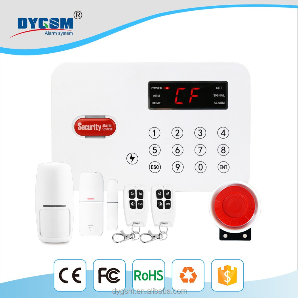 2017 hot sale GSM DY-L1 long distance Bilingual Operating Kitchen Security Alarm Burglar human motion detector