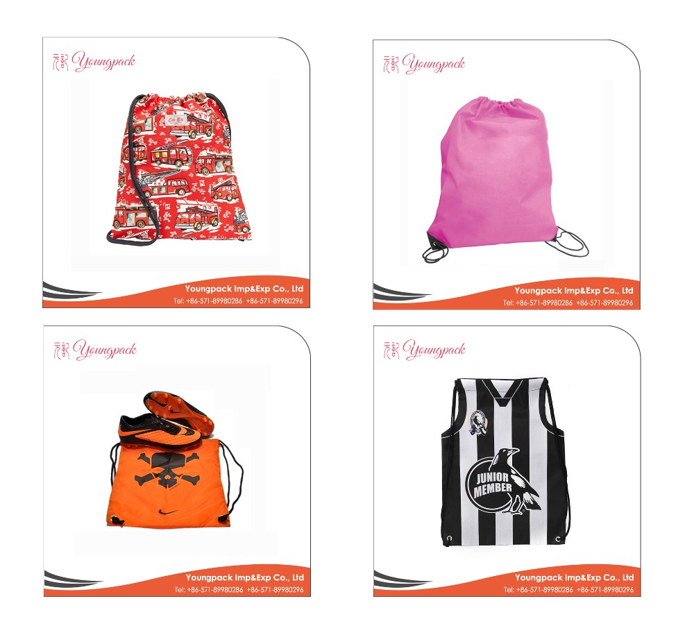 Wholesale Cheap Promotional Polyester Rope Drawstring Bag
