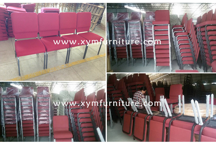 Steel fabric stacking Waiting Meeting Room conference church auditorium chair