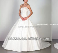 100% polyester China made wedding dress satin fabric for export