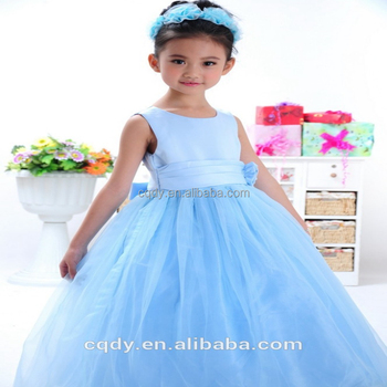 2015 Fashion Pretty Little Girl Christmas Party Dress Dark Blue Child Soild  Birthday Dresses For Wedding Kids Party Graduation , Buy Party Dress,Party