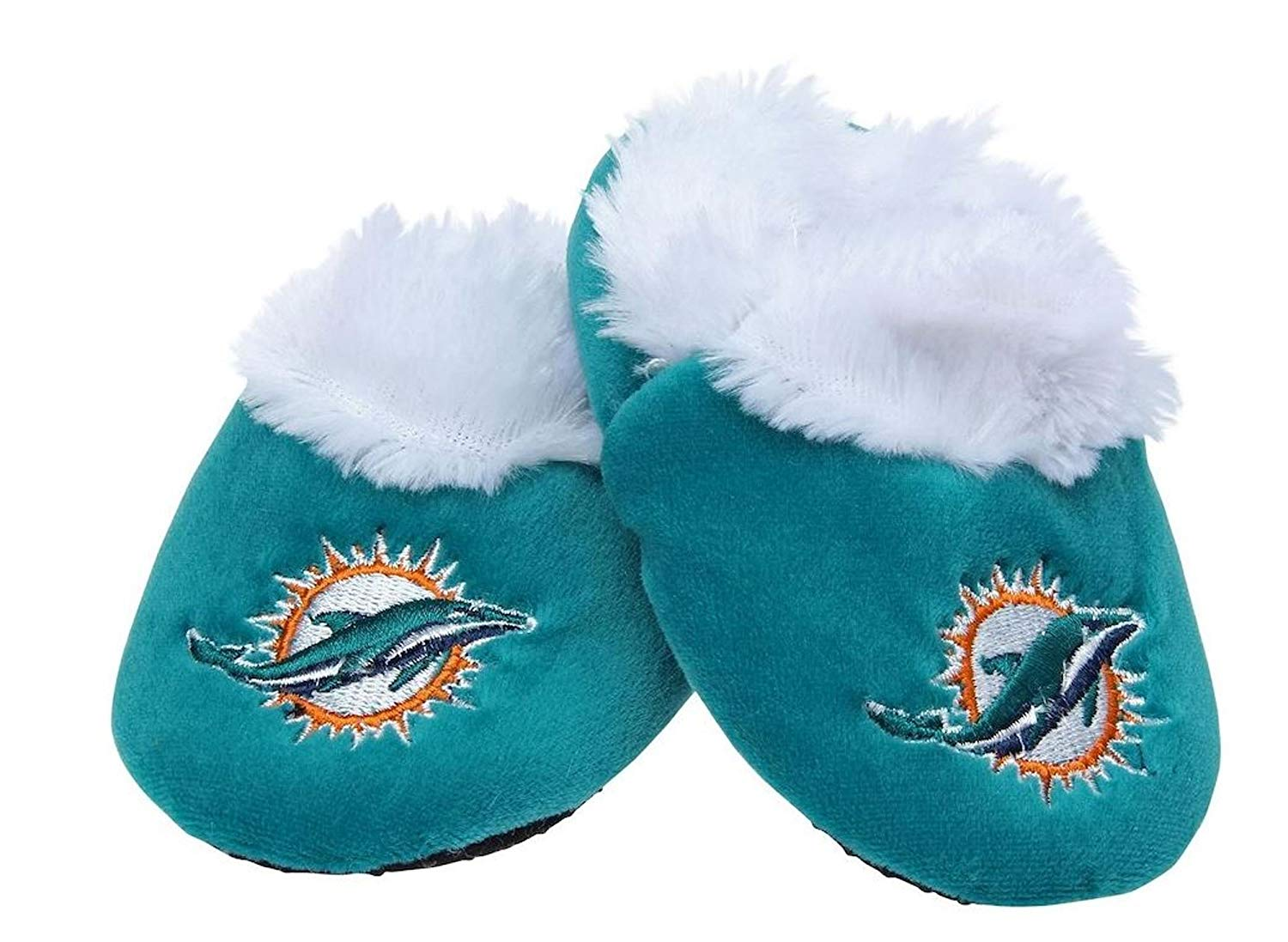JEWELS FASHION Sports Fans Dolphins Baby Slippers